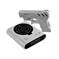 Jack-Store Novelty Gadget Funny LCD Gun Alarm Clock & Target Panel Shooting Game Toy Gifts White