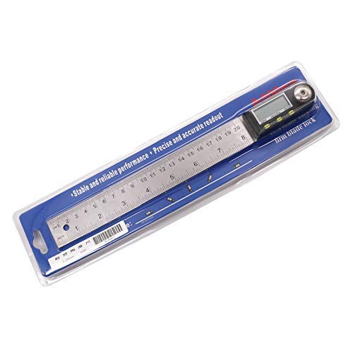 0-200 Digital Angle Ruler Finder Meter Protractor Inclinometer Goniometer Electronic Angle Gauge Stainless Steel