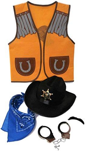 (Auberge Kids Costumes Pretend Dress Up Role Play Sets (Cowboy))