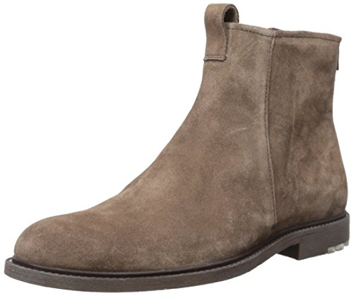 Zip Suede (Hugo Boss BOSS Orange by Men's Cultural Roots Suede Zip Fashion Boot, Light/Pastel Brown, 10 M US)