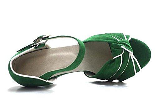 EU39 donna XIE Scarpe 6CMHEEL sandali EU36 pompe Danza Sala da Velluto ballo Taglia latino da 35To41 Taogo xC6rCd