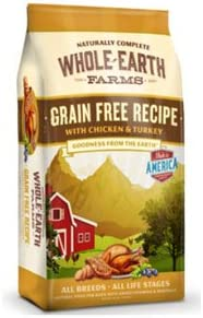 Whole Earth Farms Grain Free Chicken Turkey Recipe Dry Dog Food 25lb