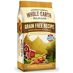 Whole Earth Farms Grain Free Chicken & Turkey Recipe Dry Dog Food 25lb