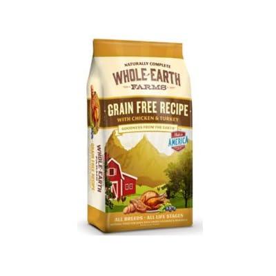 Whole Earth Farms Grain Free Chicken & Turkey Recipe Dry Dog Food 25lb