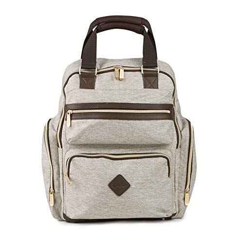 Ergobaby Ergobaby The Out for Adventure Diaper Bag- Brown Crosshatch, Khaki/Brown