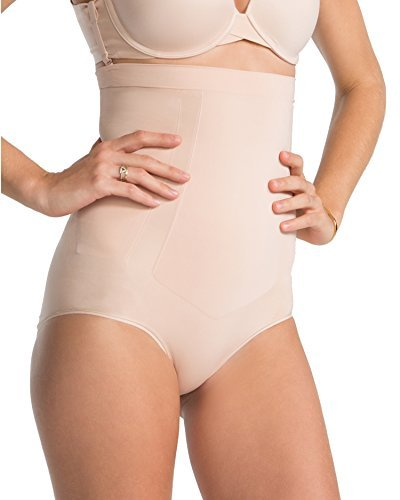 SPANX Plus Size OnCore Firm Control High-Waist Brief, 2X, Soft Nude