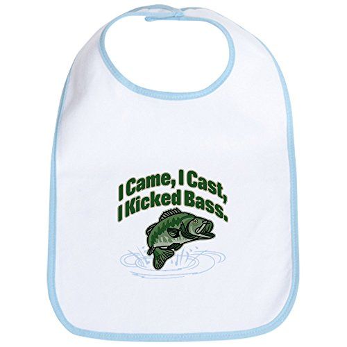 CafePress - CAME, CAST, KICKED BASS Bib - Cute Cloth Baby Bib, Toddler Bib - Kicked Bass