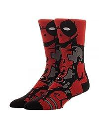 Marvel Comics Deadpool 360 Character Crew Socks