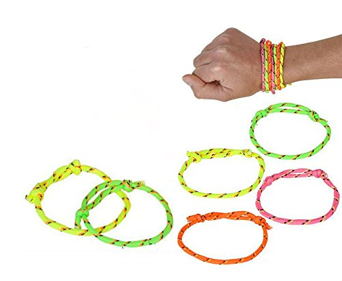 Neon Rope Friendship Bracelets - Play Kreative (Nylon Friendship Rope Bracelets)