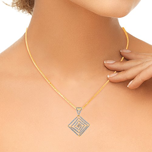 Giantti 14carats Diamant Pendentif Femme Collier (1.054CT, VS/Si-clarity, Gh-colour)