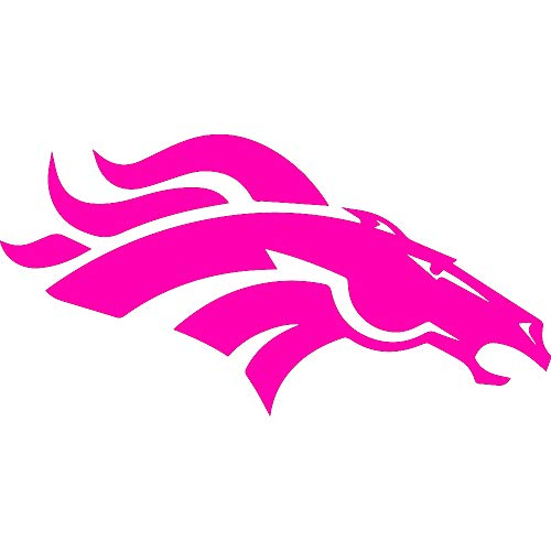 ANGDEST NFL The Denver Broncos (Pink) (Set of 2) Premium Waterproof Vinyl Decal Stickers for Laptop Phone Accessory Helmet Car Window Bumper Mug Tuber Cup Door Wall Decoration