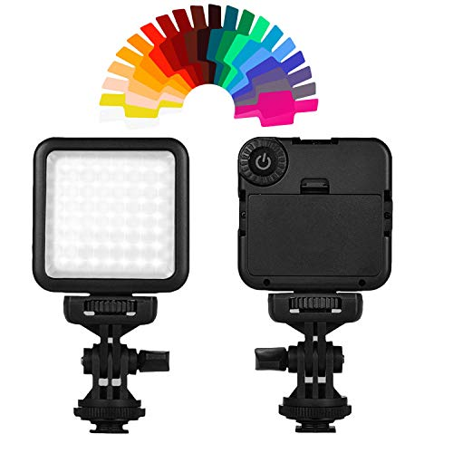 49 LED Video Light Panel Flash + 20pcs Gel Filter + Adjustable Stand Hot Shoe Mount Compatible Zhiyun Smooth Crane DJI Osmo Ronin Gimbal Stabilizer Tripod DSLR Camera Canon Nikon Olympus Photography from Vikerer