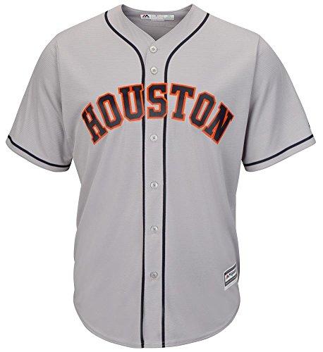 Majestic Athletic Houston Astros Road Grey Cool Base MLB Replica Jersey Baseball Trikot Tee T-Shirt