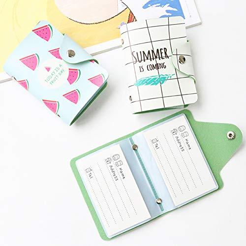 Himpokejg Fashion Letter Fruit Printed Anti-degaussing Card Holder Bag Case Girls Gift-1# by Himpokejg (Image #2)