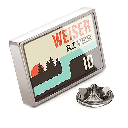 NEONBLOND Lapel Pin USA Rivers Weiser River - Idaho