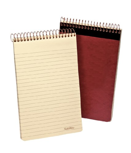 Spiral Writing Pad (Ampad Gold Fibre Retro Writing Pad, Red Cover, Ivory Paper, 5 x 8, Medium Rule, 80 Sheets, 1 Each)