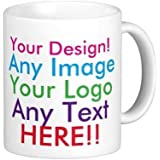 Trendi® Personalised Mug with Name (add ANY name, drink, message, text, photo,etc) Personalised Gift - For Home / Office / Work..Dishwasher and Microwave safe