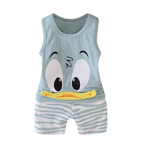 T-shirt Quilt Free Pattern - 2Pcs Toddler Baby Girls Boys Funny Cartoon Animals Sleeveless Vest Tops T Shirt Shorts Outfits Set (Green, 4T(3-4Years))