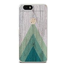 Nexus 6P Case, CasesByLorraine Wood Print Geometric Triangle Pattern Thin Plastic Hard Cover for Huawei Nexus 6P (S01)