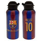 FC Barcelona Aluminium Drinks Bottle Messi - Great FCB Team Colors - Features #10 and Messi - Team Crest