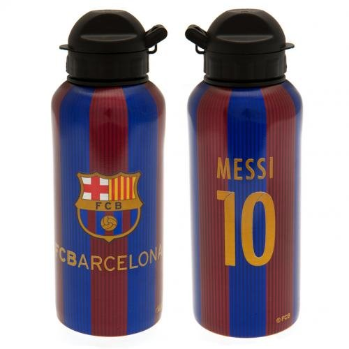84505150ca225 FC Barcelona Aluminium Drinks Bottle Messi - Great FCB Team Colors -  Features  10 and Messi - Team Crest