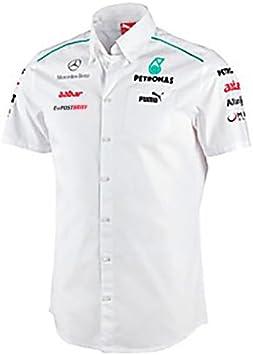 Mercedes AMG Petronas - Camisa de manga corta para hombre, diseño de Fórmula 1, color blanco - blanco, tamaño L: Amazon.es: Deportes y aire libre