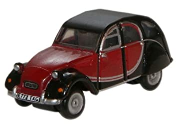 304c0c90fdbbb4 Image Unavailable. Image not available for. Colour  OXFORD DIECAST NCT001  Charleston Maroon Black Citroen 2CV