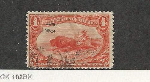 United States, Postage Stamp, 287 Used, 1898 Indian Buffalo Hunt