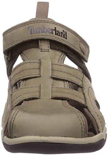 Timberland Unisex-Kinder Active Casual Sandal_Oak Bluffs Leather Fisher Beige (Greige)