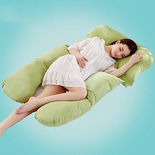 Pregnant women pillow / multi-functional pregnant women pillow / u pillow / pregnant women pillow / side sleep pillow ( Color : Green ) by Pregnant women pillow