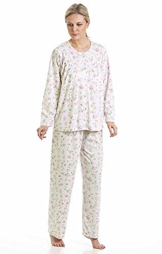 De flores de Kuddle mujer polialgodón en flor de sifón sea pijamas de pijama punto con pom y 57417 Ivory