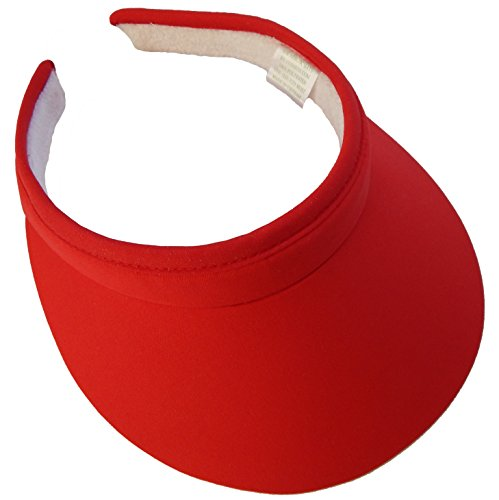 (Cushees Cloth Covered Clip-On Visor [233] (Red))