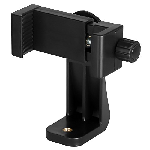 Universal Phone Tripod Mount Adapter/Vertical Bracket Smartphone Holder/Cell Phone Clip Clipper Sidekick 360 Degree Smartphone Video Tripod Clamp Compatible with iPhone Samsung Android Phones Stand