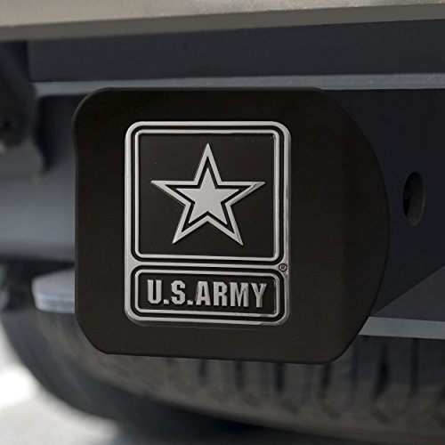 """FANMATS 21326 Team Color 3.4""""x4"""" Army Black Hitch Cover"""