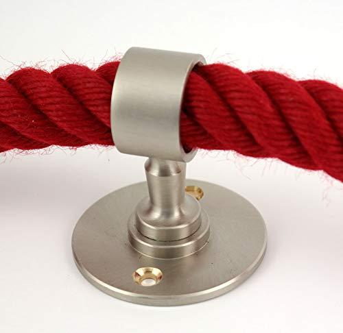 Handrail Rope Gepotex Rope Carrier//Wall Holder//Rope Holder Matt Nickel for 25 mm Rope Barrier Rope