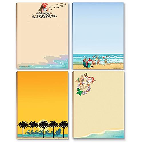 Holiday Notepads - 4 Beach Christmas Notepads - Beach Theme Notepads