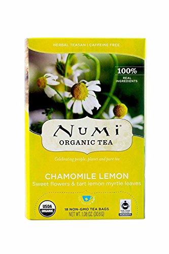Numi Structural Tea Fair Trade Chamomile Lemon, Herbal Teasan, 18-Count Tea Bags
