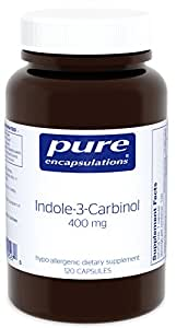 Pure Encapsulations - Indole-3-Carbinol 400 mg - Supports Healthy Breast, Cervical and Prostate Cell Function - 120 Capsules