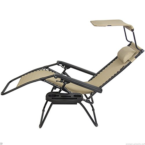 Paylesshere Zero Gravity Chairs 2 Set Lounge Patio Chairs