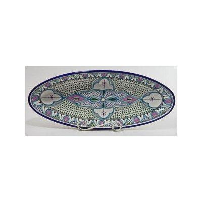 Le Souk Ceramique Malika Design Oval Platter, X-Large