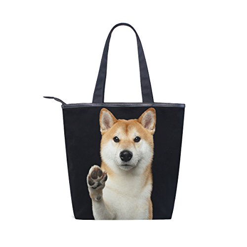 Cute Bag MyDaily Handbag Shoulder Womens Dog Tote Inu Shiba Canvas wppxZO1