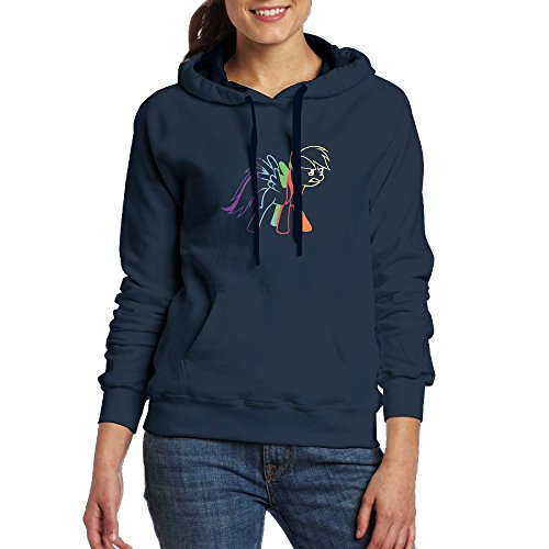 Price comparison product image Akrier Women's Casual Long Sleeve Front Pocket colorful LED Cute Unicorn Art Hooded Sweatshirt