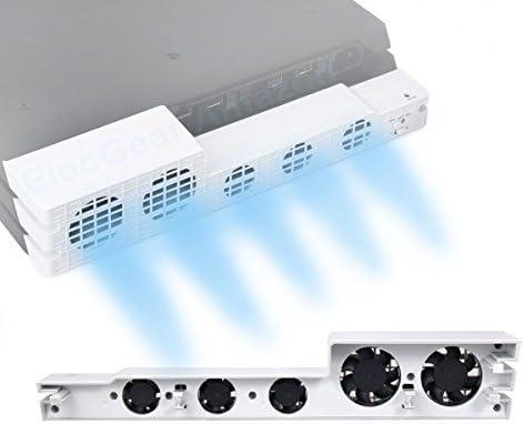 PS4 Pro Ventilador de refrigeración el Color Blanco - ElecGear Glacial White Turbo refrigerador Control De La Temperatura del Súper USB Cooling Fan Cooler para Sony Playstation 4 Pro: Amazon.es: Informática