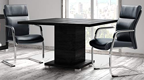 (Ford Executive Modern Conference Table in Black Oak Finish - Square)