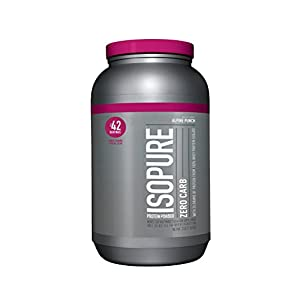 Isopure Zero Carb Protein Powder, 100% Whey Protein Isolate, Flavor: Alpine Punch, 3 Pounds (Packaging May Vary)