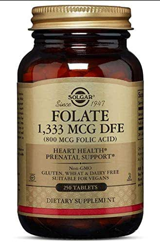Solgar - Folic Acid 800 mcg, 250 Tablets