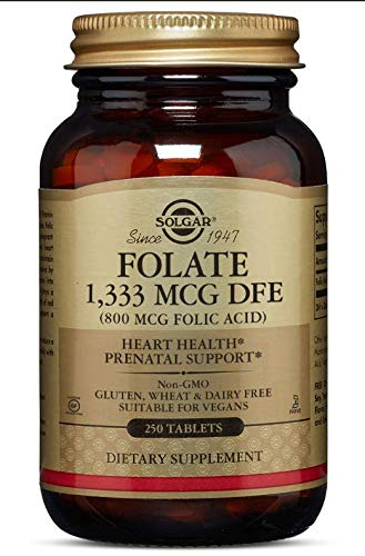 Solgar Folate 1,333 MCG DFE (800 MCG FOLIC ACID) Tablets
