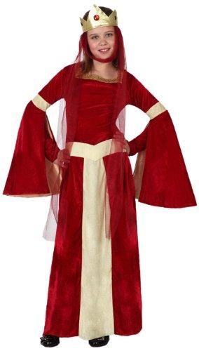 Atosa-15878 Disfraz Dama Medieval, color rojo, 7 A 9 Años (15878 ...