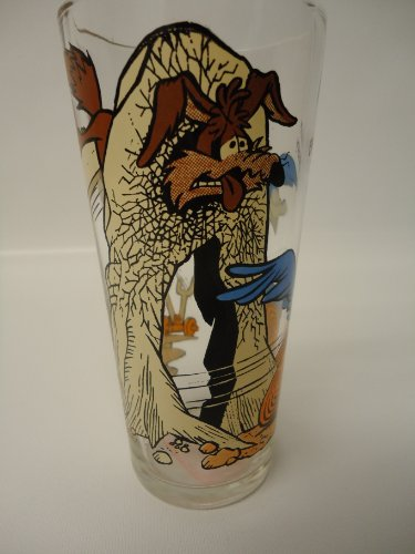 (1976 Pepsi Collector Series glass Road Runner, Wile E. Coyote)