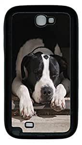 Samsung Note II Case Resting Dog TPU Custom Samsung Note 2 Case Cover Black